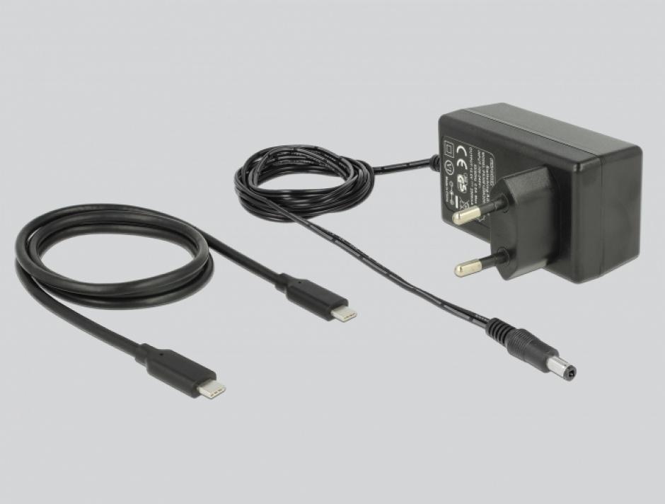 Imagine HUB USB 3.1 cu 2 x USB-A + 2 x USB-C Negru, Delock 64054-3