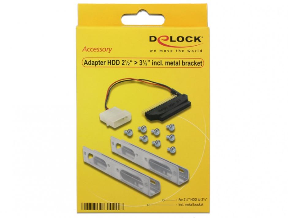 "Imagine Adaptor intern 2.5"" la 3.5"" IDE + bracket, Delock 61022-4"