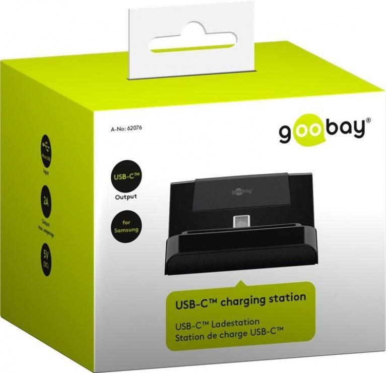 Imagine Statie de incarcare (incarcator priza) USB-C 5V/2A, Goobay 62076-5
