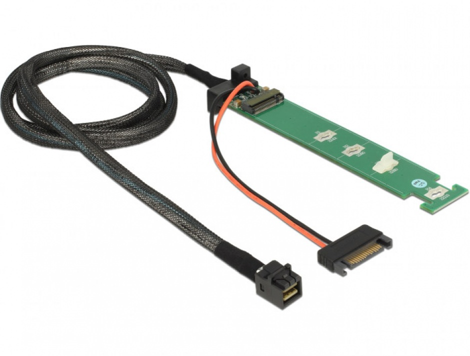 Imagine Convertor SFF-8643 la 1 x M.2 NVMe Key M + cablu 1m, Delock 63342-2
