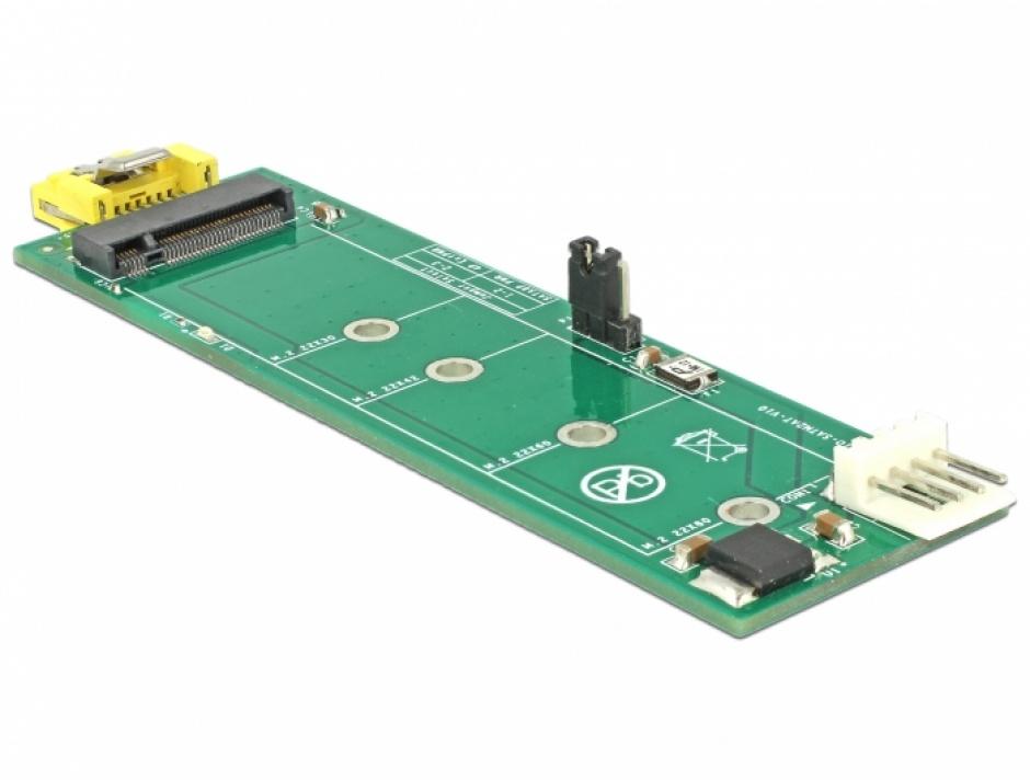 Imagine Adaptor SATA 8 pini la M.2 Key B slot, Delock 63917-2