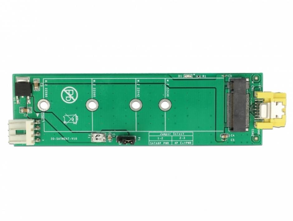 Imagine Adaptor SATA 8 pini la M.2 Key B slot, Delock 63917-4