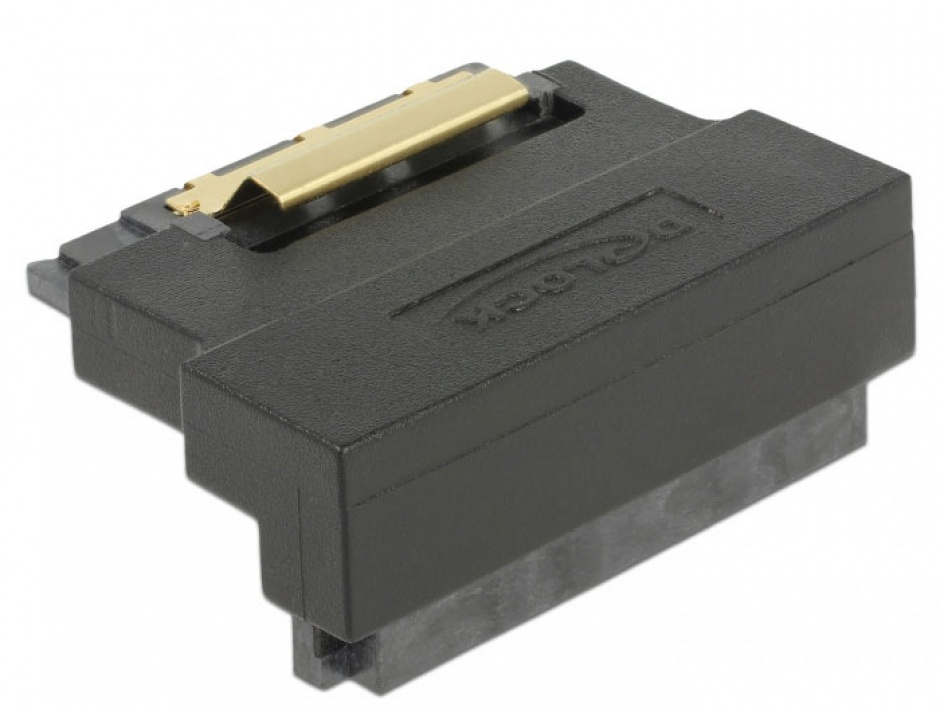 Imagine Adaptor SATA 22 pini T-M unghi 90 grade jos, Delock 63943-2