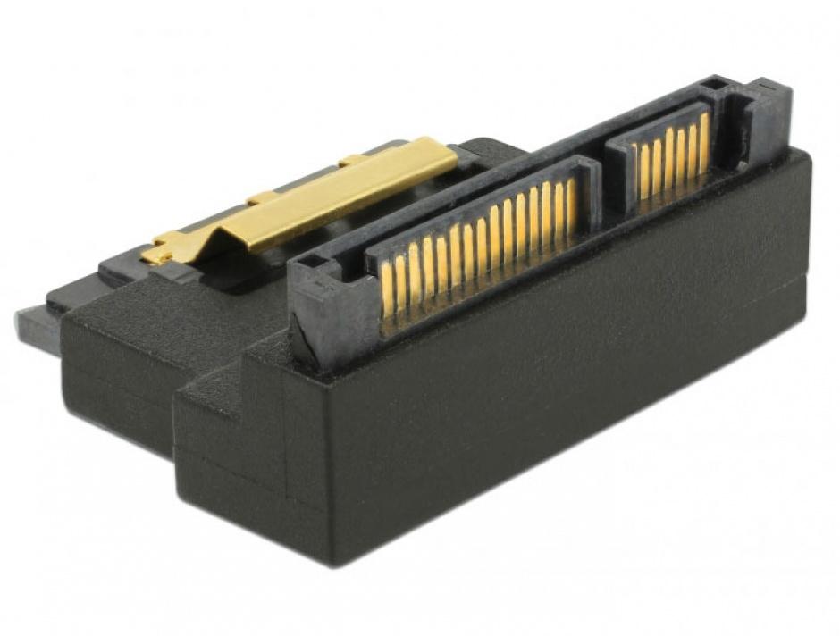Imagine Adaptor SATA 22 pini T-M unghi 90 grade sus, Delock 63944-3