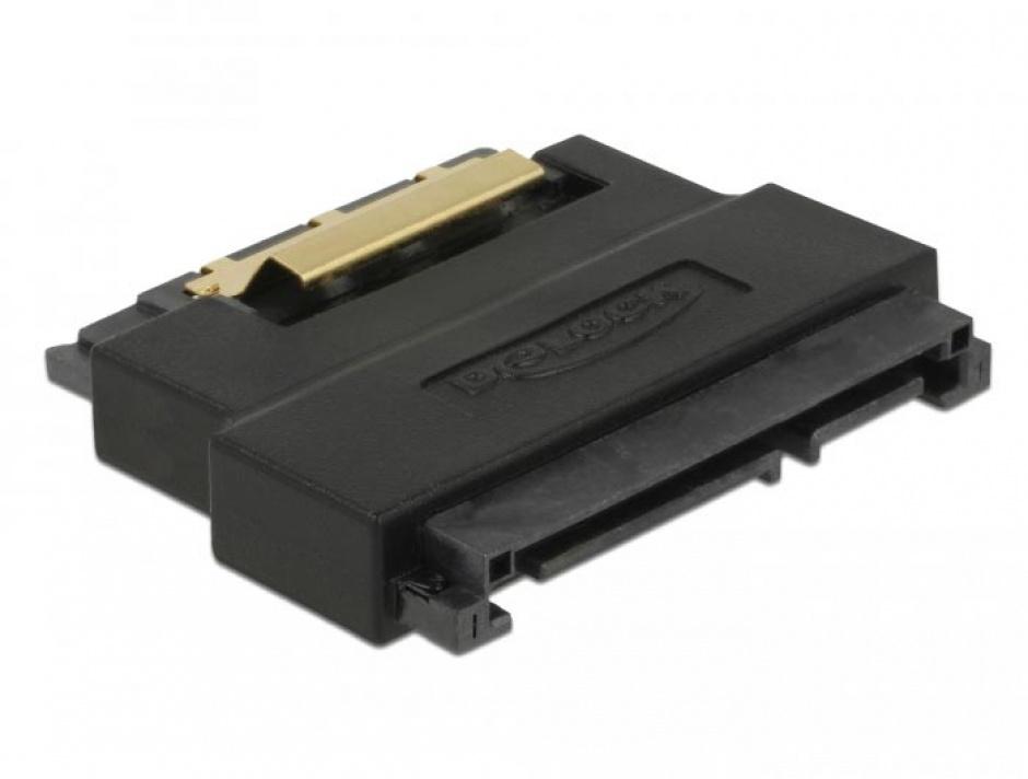 Imagine Adaptor SATA 22 pini T-M port saver, Delock 63945-1