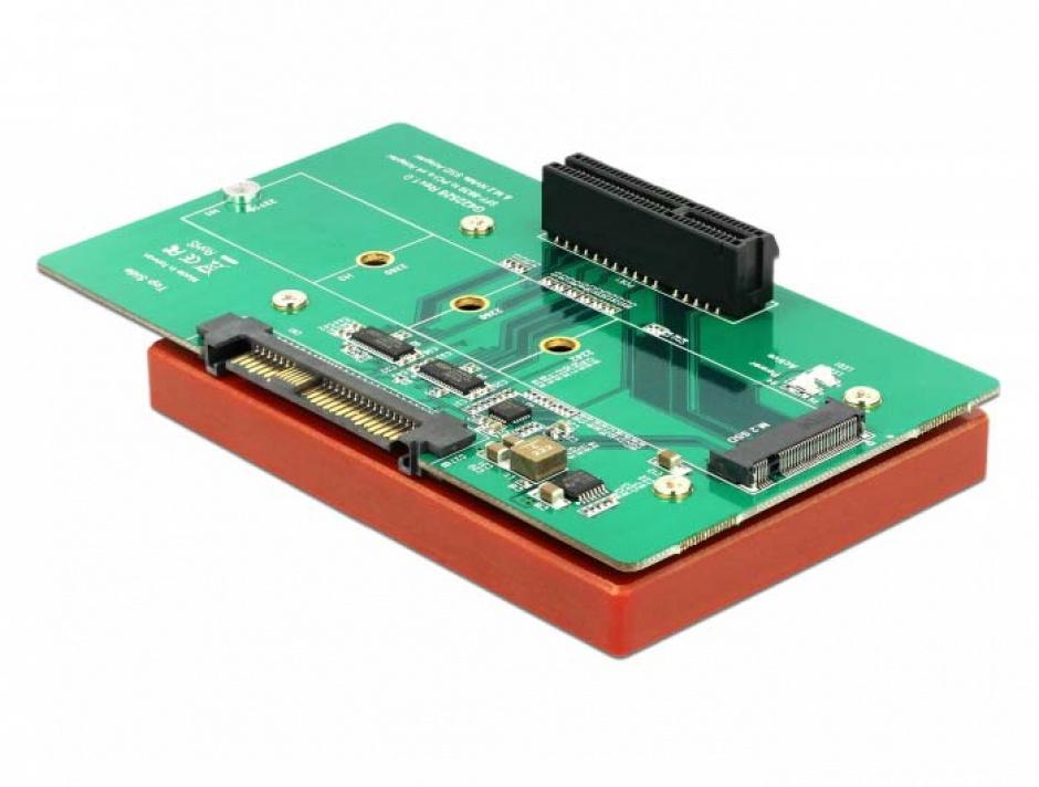 Imagine Adaptor U.2 SFF-8639 la PCIe/M.2 Key M slot, Delock 63951-1