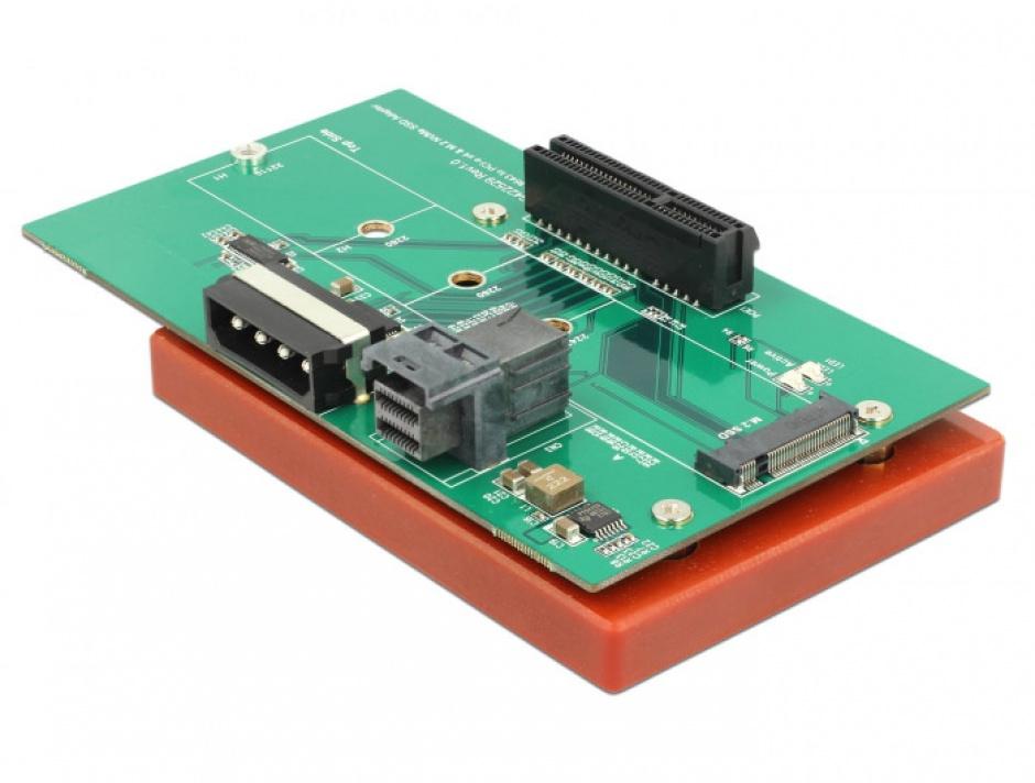Imagine Adaptor U.2 SFF-8643 la PCIe/M.2 Key M slot, Delock 63952-1