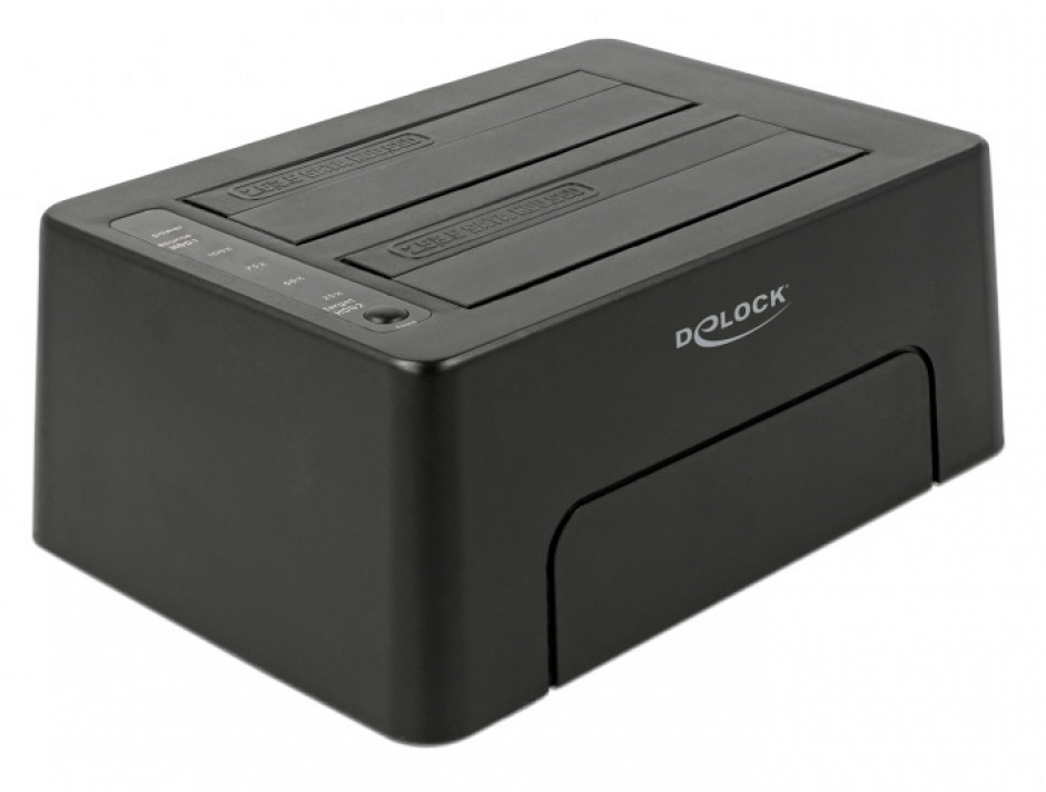 "Imagine Docking Station USB 3.1-C la 2 x SATA HDD/SSD 2.5"" + 3.5"" cu functie de Clona, Delock 63957"