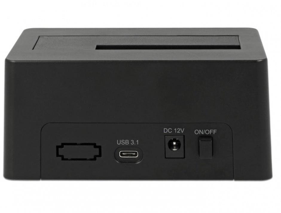 Imagine Docking Station USB 3.1-C pentru HDD/SSD SATA, Delock 63958
