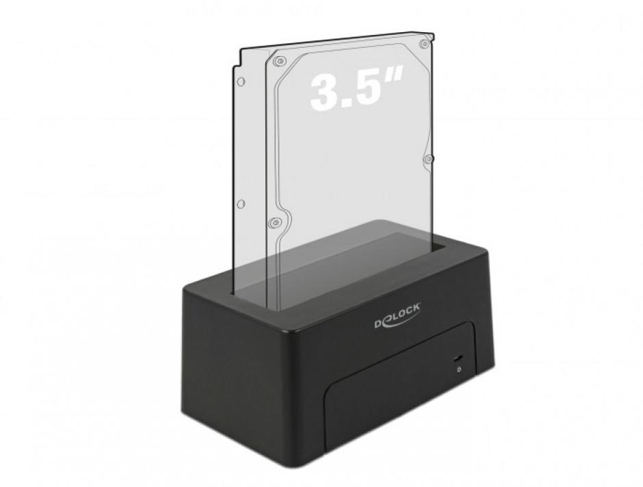 Imagine Docking Station USB 3.1-C pentru HDD/SSD SATA, Delock 63958-3