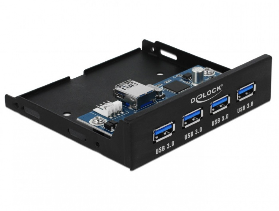 "Imagine Front panel 3.5"" cu 4 porturi USB 3.0, Delock 63961"