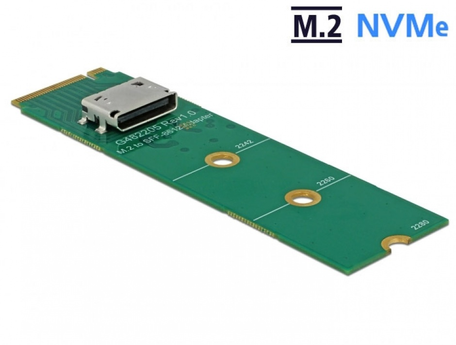 Imagine Convertor M.2 Key M la OCuLink SFF-8612, Delock 64040