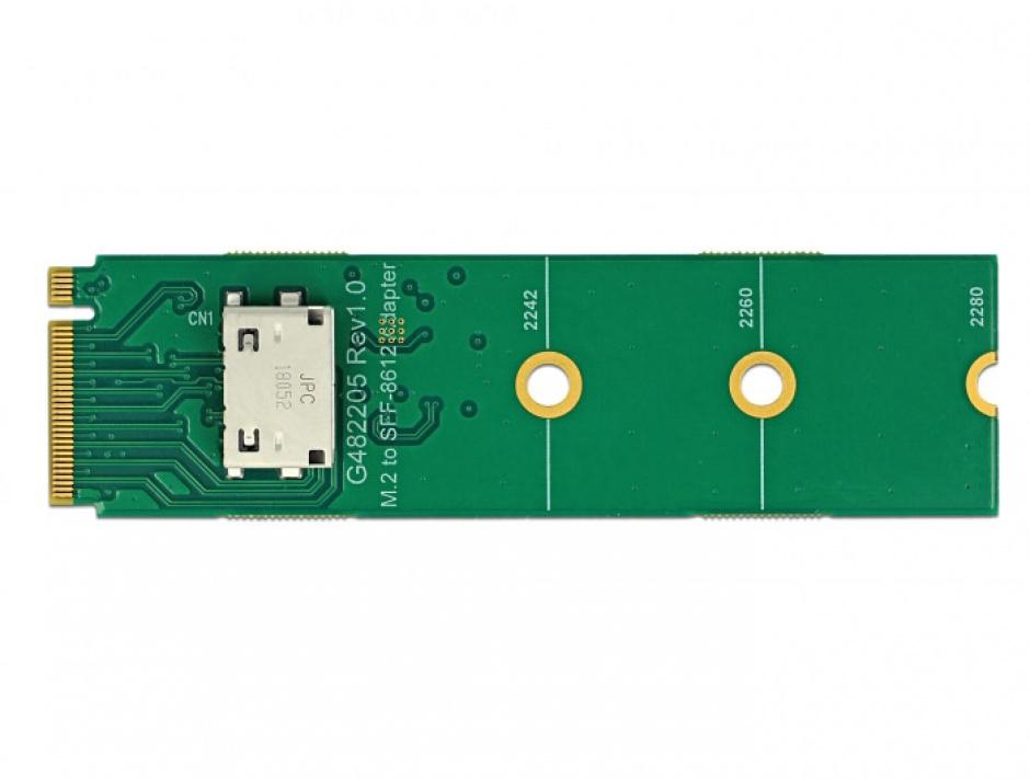 Imagine Convertor M.2 Key M la OCuLink SFF-8612, Delock 64040-3