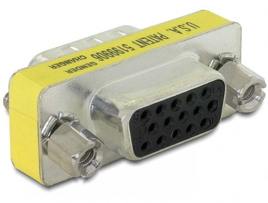 Imagine Adaptor VGA 15 pini M-M, Delock 65001-1