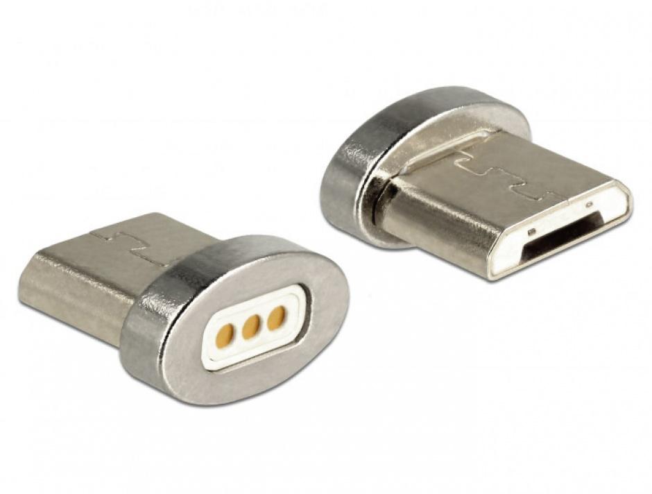 Imagine Adaptor magnetic pentru incarcare micro USB-B pentru 85705/85725, Delock 65929-1