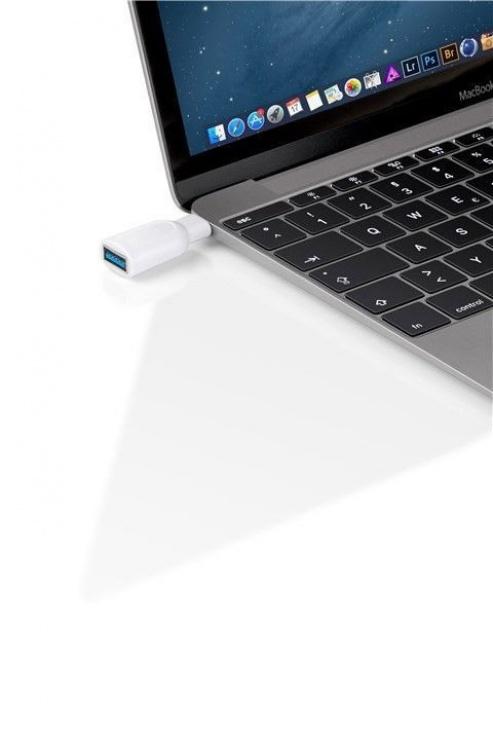 Imagine Adaptor USB-C 3.0 la USB-A T-M Alb, Goobay 66262-1