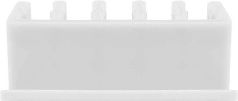 Imagine Set 2 bucati organizatoare cablu cu 5 sloturi albe, Goobay 70431-5