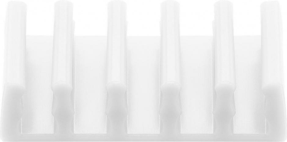 Imagine Set 2 bucati organizatoare cablu cu 5 sloturi albe, Goobay 70431-6