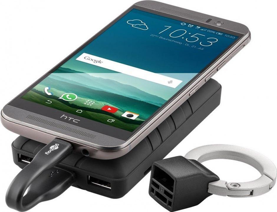 Imagine Breloc cablu date si incarcare micro USB 0.085m, Goobay 71810-3