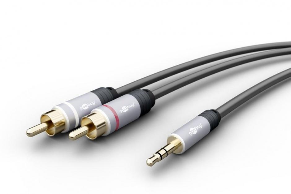 Imagine Cablu audio jack 3.5mm la 2 x RCA CCS T-T 5m, Goobay 79066-1