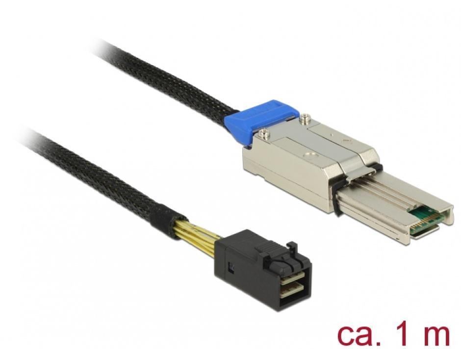 Imagine  Cablu Mini SAS HD SFF-8088 la Mini SAS HD SFF-8643 1m, Delock 83620