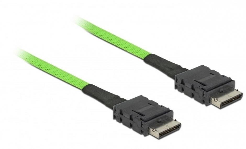 Imagine Cablu OCuLink PCIe SFF-8611 la OCuLink SFF-8611 1m, Delock 85214