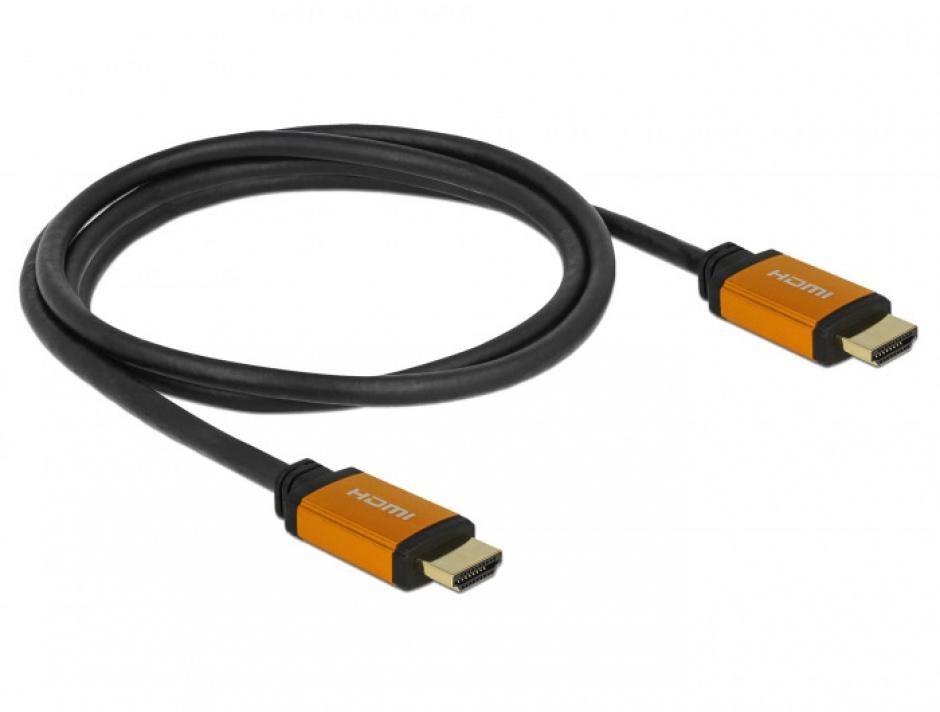 Imagine Cablu Ultra High Speed HDMI 8K60Hz/4K240Hz T-T 1.5m Negru, Delock 85728-1