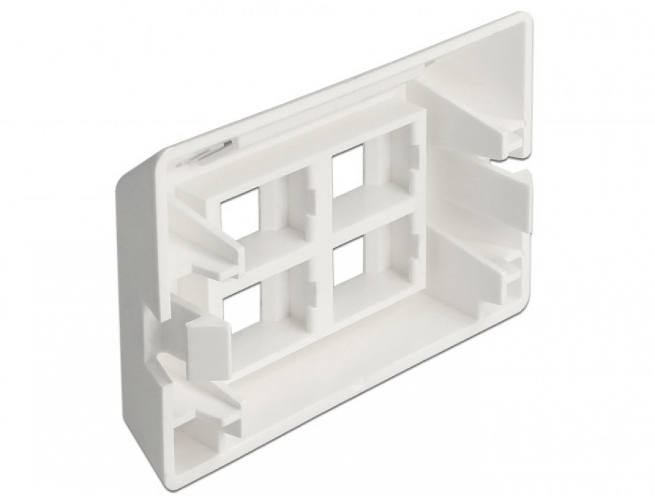 Imagine Priza cu 4 porturi Keystone pentru instalare mobila Alb, Delock 86293-1