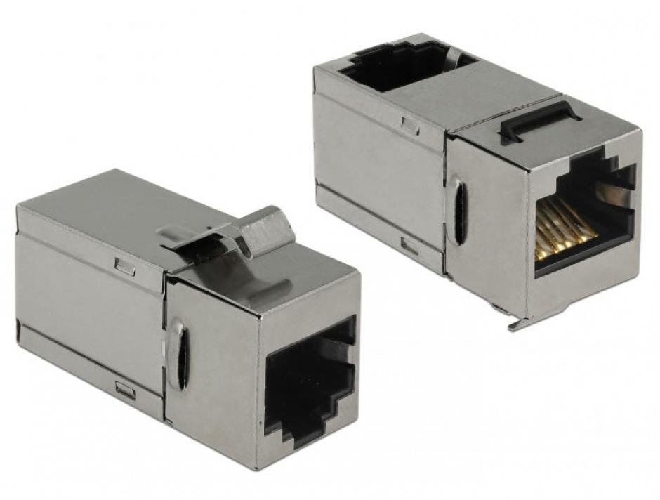 Imagine Modul keystone RJ45 cat 6 unghi 90 grade, Delock 86371