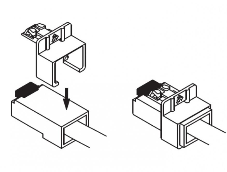 Imagine Set 60 buc Clips pentru securizarea mufei RJ45, Delock 86446-2