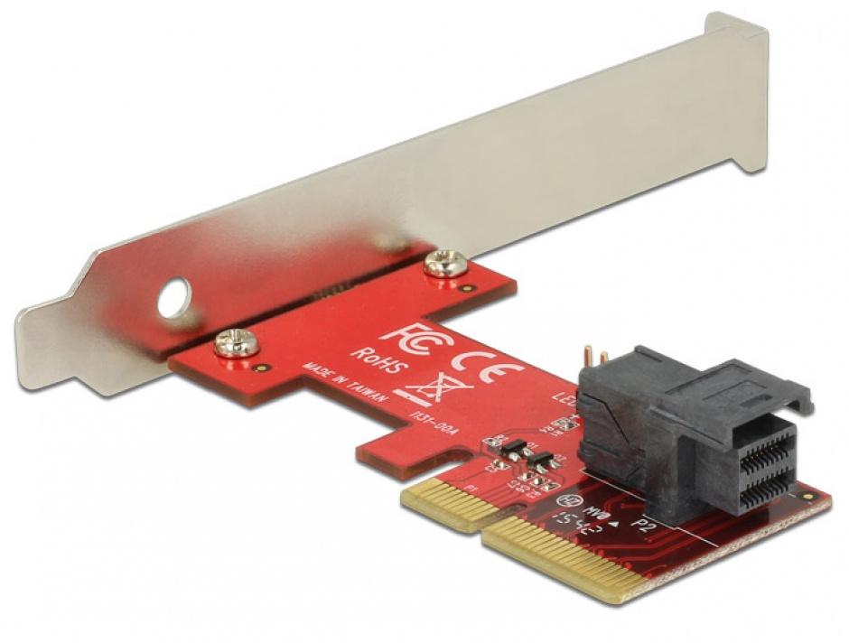 Imagine PCI Express cu 1 port SFF-8643 NVMe LPFF, Delock 89535-1