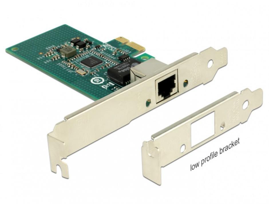 Imagine PCI Express la 1 x Gigabit LAN chipset Intel i210, Delock 89942