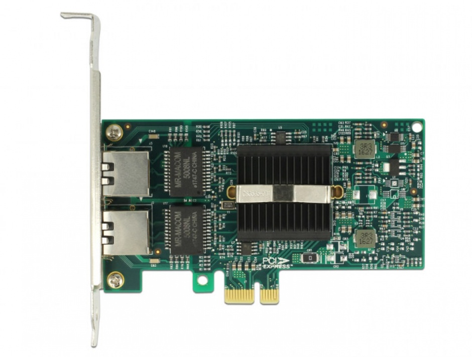 Imagine  PCI Express la 2 x Gigabit LAN chipset Intel 82576, Delock 89944-3