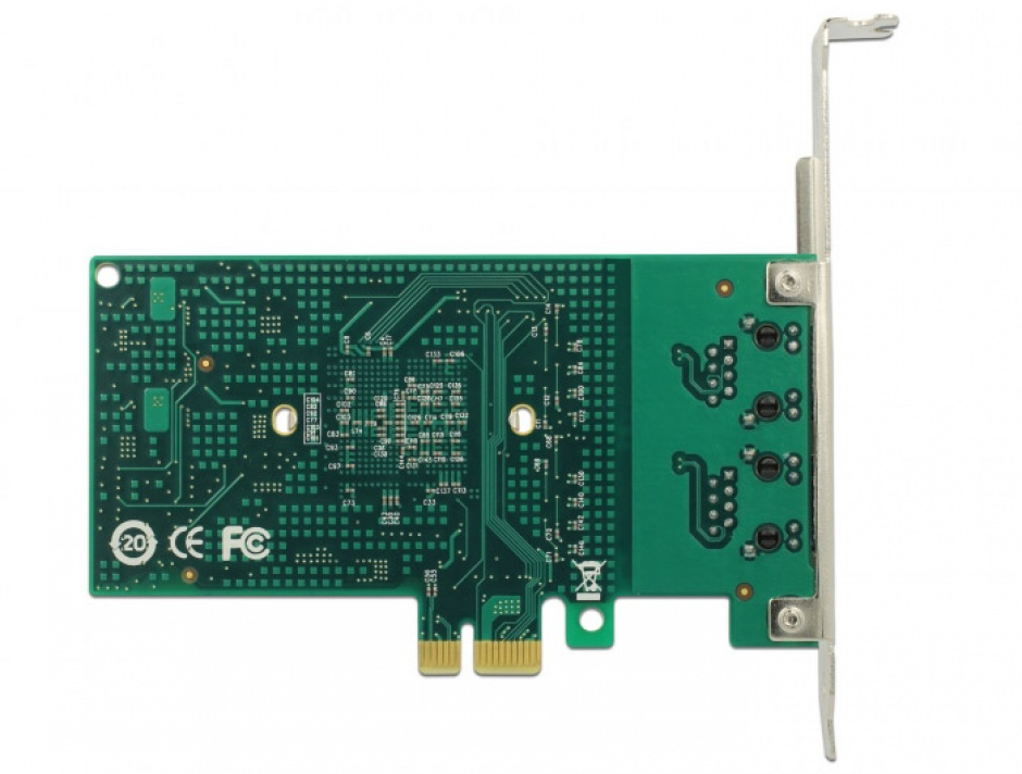 Imagine  PCI Express la 2 x Gigabit LAN chipset Intel 82576, Delock 89944-4