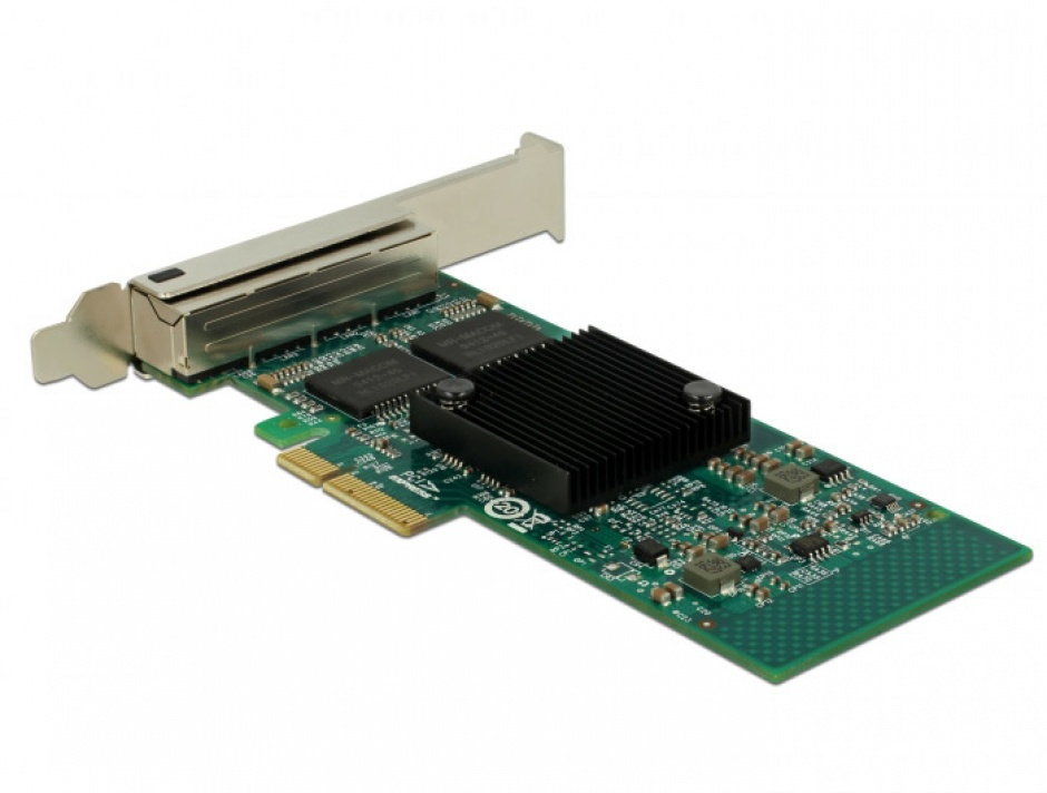 Imagine PCI Express la 4 x Gigabit LAN chipset Intel i350, Delock 89946-2