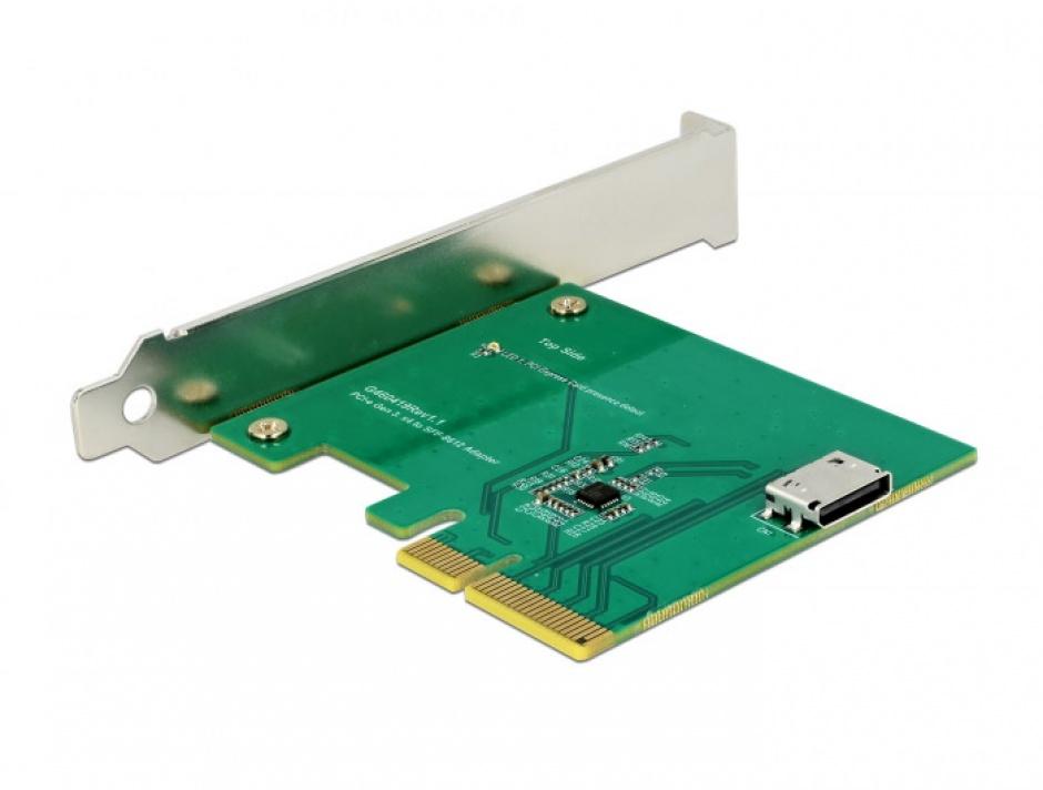 Imagine PCI Express la un port intern OCuLink SFF-8612 NVMe 1.2, Delock 90307-2