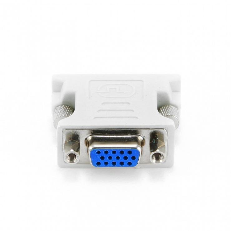 Imagine Adaptor DVI-I Dual Link 24+5 pini la VGA T-M, Gembird A-DVI-VGA-1