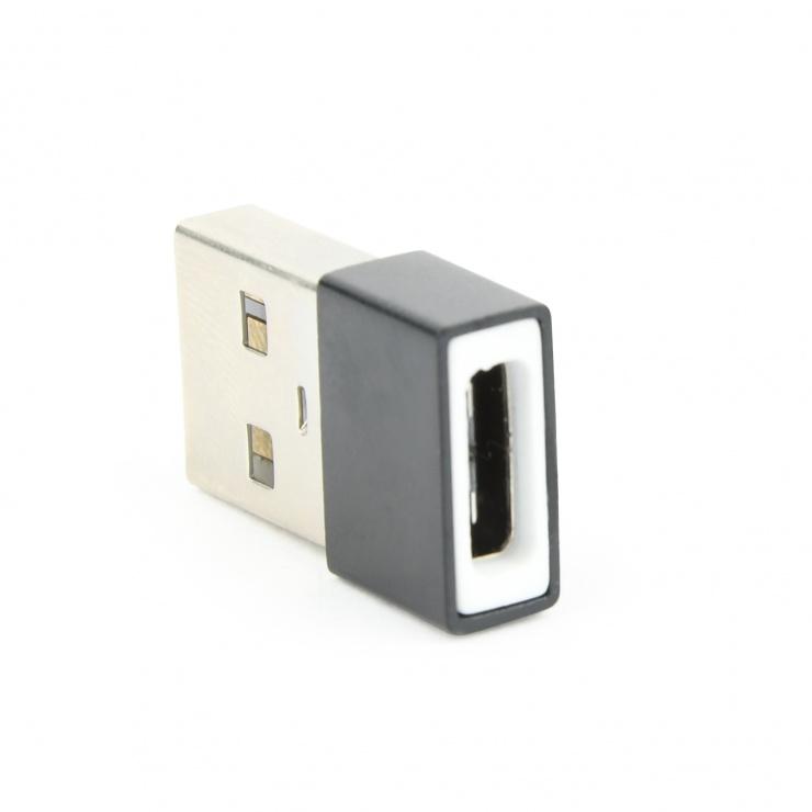 Imagine Adaptor USB-A la USB-C T-M, Gembird A-USB2-AMCF-01-1