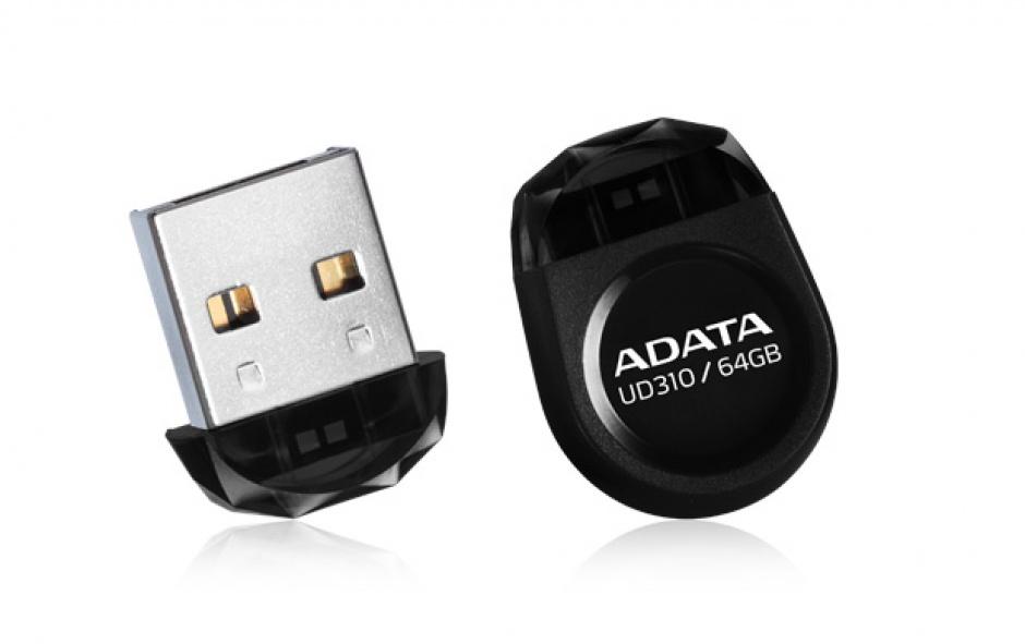 Imagine Stick USB 2.0 nano UD310 64GB Negru, ADATA