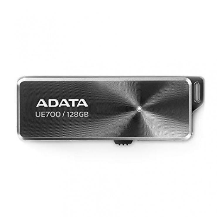 Imagine Stick USB 3.1 128GB retractabil Black, ADATA UE700 Pro-1
