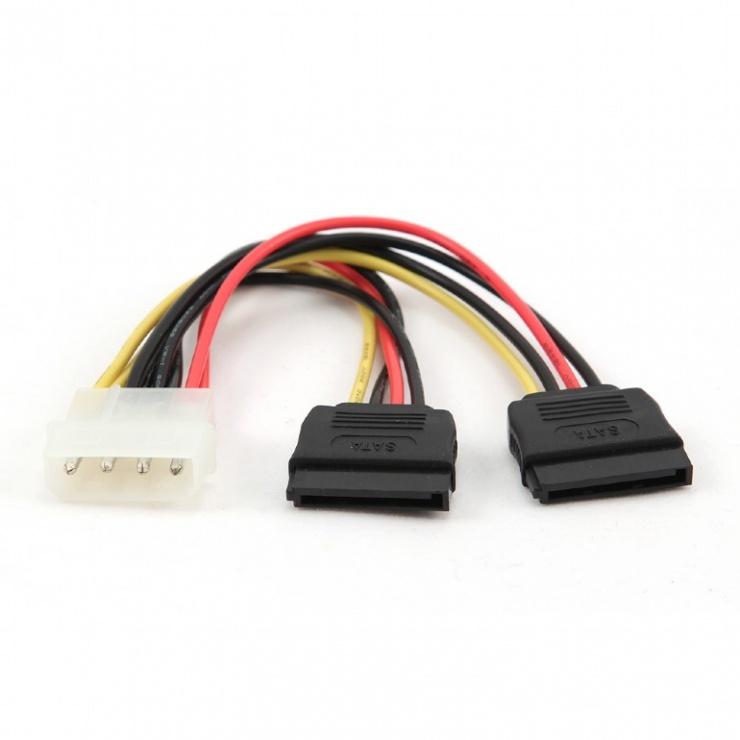 Imagine Cablu alimentare Molex la 2 x SATA, Gembird CC-SATA-PSY
