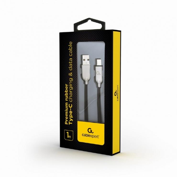Imagine Cablu USB 2.0 la USB-C Premium 1m Negru, Gembird CC-USB2R-AMCM-1M-1