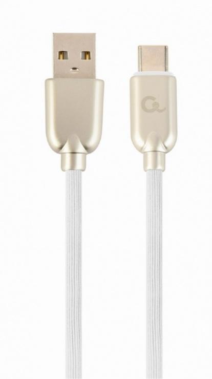 Imagine Cablu USB 2.0 la USB-C Premium 2m Alb, Gembird CC-USB2R-AMCM-2M-W