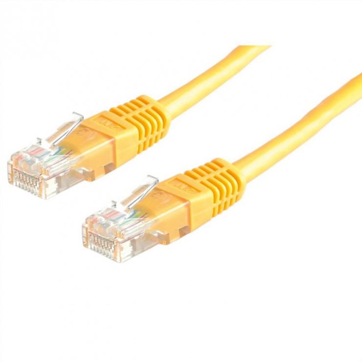 Imagine Cablu de retea RJ45 MYCON UTP Cat.6 0.5m Galben, CON1522