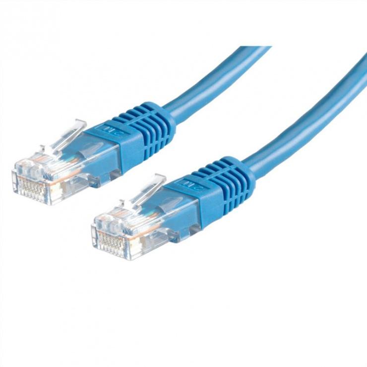 Imagine Cablu de retea RJ45 MYCON UTP Cat.6 5m Albastru, CON1564