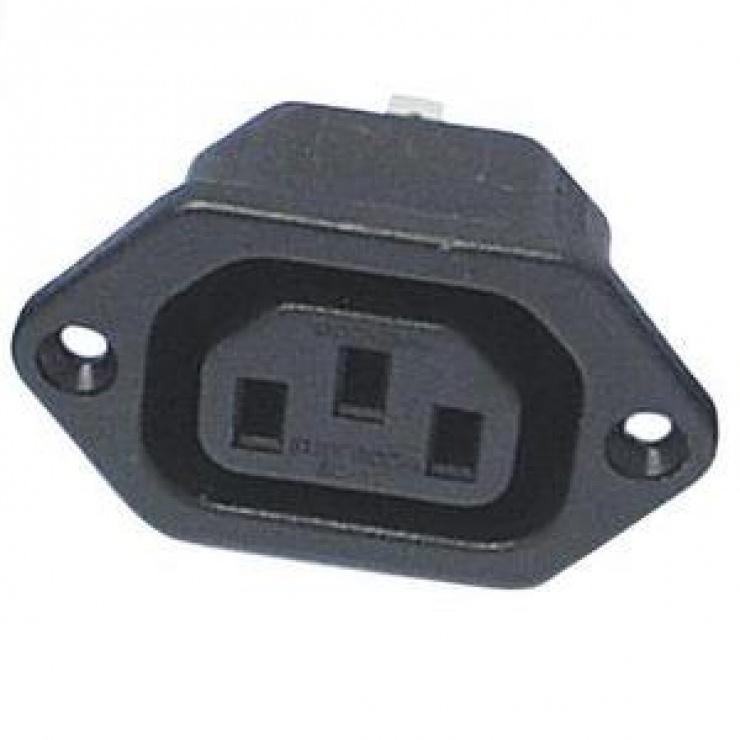 Imagine Conector de alimentare pentru lipit 230V/mama IEC C13, CS220FP