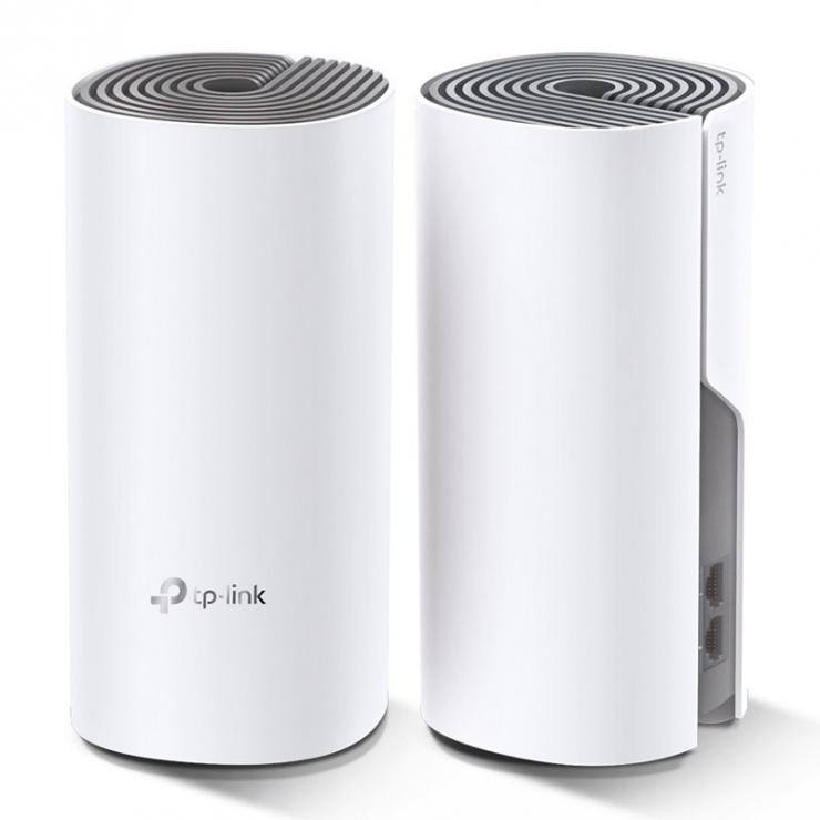 Imagine Sistem Wi-Fi Mesh pentru intreaga casa, TP-LINK Deco E4(2-pack)-1