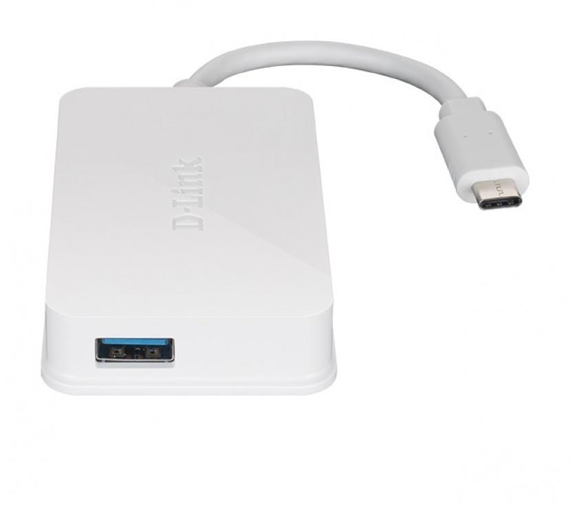 Imagine HUB USB-C 3.1 la 4 x USB-A Alb, D-LINK DUB-H410-1