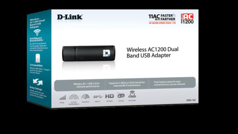 Imagine Adaptor wireless USB 3.0 AC1200 dual-band, D-LINK DWA-182