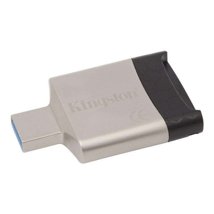 Imagine Cititor de carduri USB 3.0 la micro SD/SDHC/SDXC + SD, Kingston FCR-MLG4-1